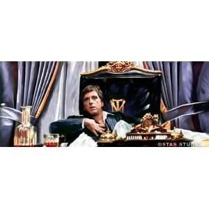 SCARFACE TONY MONTANA home theater dvd painting CANVAS ART