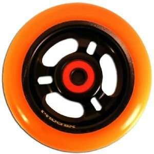 Phoenix 3 Spoke Wheel Orange Black 100mm