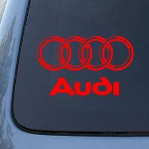 AUDI   Vinyl Car Decal Sticker #1766  Vinyl Color Red Automotive