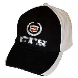 Cadillac CTS Twill / Cotton Two tone (Black/Ivory) Hat with Crest Logo