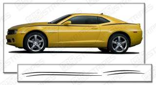 Chevy Camaro 2010 2011 Javelin Side Stripes Decals 3M