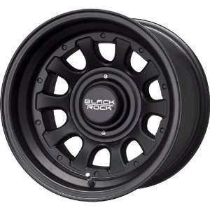 Black Rock Type D Alloy 909 Matte Black Wheel (15x10