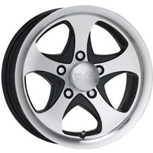 com Black Rock Intrepid Trailer 14x5.5 Machined Black Wheel / Rim 5x4