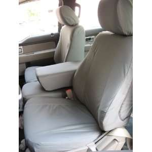 Seats with Solid Center Armrest Custom Exact Seat Covers, Gray