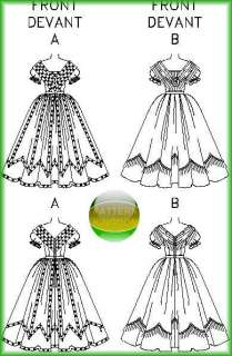 Civil War Ball Gown/Dress Patterns North/South 6 10