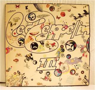 LED ZEPPELIN III 3 SD7201 WORKING WHEEL DO WHAT THOU WILT US PRESS