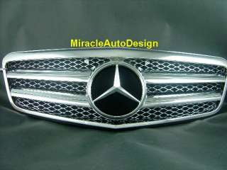 FRONT GRILLE (CHROME) FOR 2009 2012 MERCEDES BENZ W212 E CLASS