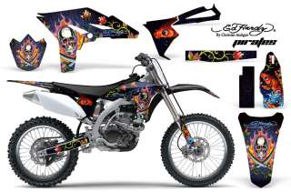 AMR RACING OFF ROAD MX STICKER GRAPHIC KIT YAMAHA YZ 250 F YZF 10 12