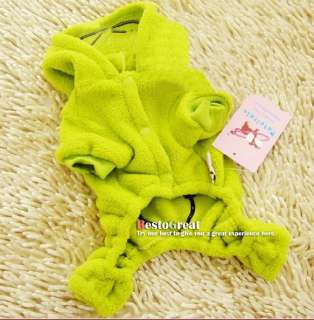 Pet Dog Puppy apparel cloth warm Frog Coat XXS/XS/S/M/L