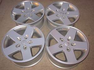 JEEP WRANGLER 17 OEM ALLOYS SET RIMS WHEELS 2007 2011