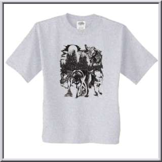 Wolf Pack Howling Wildlife Shirt S XL,2X,3X,4X,5X