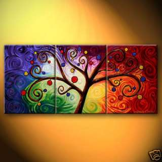 Abstract Large oil painting On Canvas Art   Tree of Life 3p
