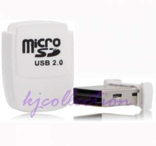 32GB Micro SDHC TF Mini USB Flash Drive Card Reader WHITE A2
