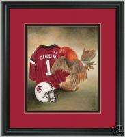 South Carolina Gamecocks football print framed