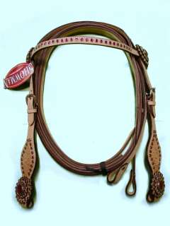 Pink crystal Bling Light Oil Western Headstall Bridle Rein Showman