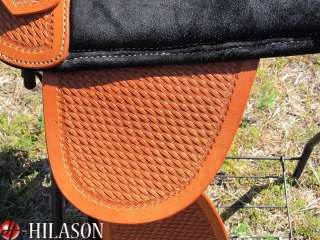 900 F Hilason Treeless Western Trail Barrel Saddle 18