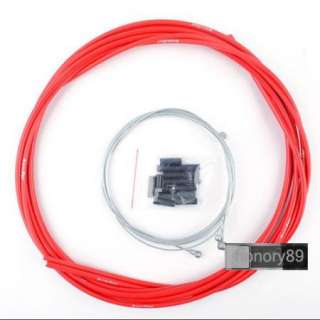 NEW Cycling BICYCLE BIKE JAGWIRE HOUSING CABLE BRAKE SHIFTER KIT RED