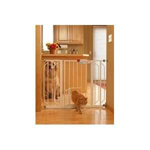 Carlson™ Extra Wide Walk Thru Gate with Pet Door, 4