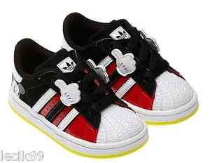 Adidas Mickey Superstar Shoes Kids Boys Shoes 3K 10K