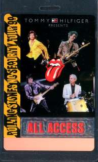 ROLLING STONES backstage pass Tour Laminate AA security