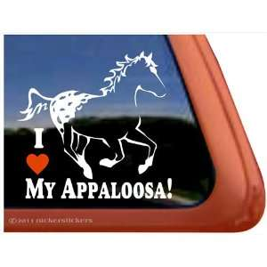 I Love My Appaloosa Horse Trailer Vinyl Window Decal