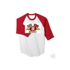 #9 Kasey Kahne Dodge Racing Mens Red/White Baseball Tee