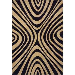 Angela Adams Mammy Black Contemporary Rug