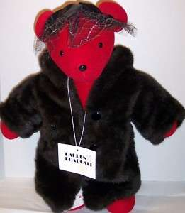 NORTH AMERICAN VIB LAUREN BEARCALL FAUX FUR BEAR 20