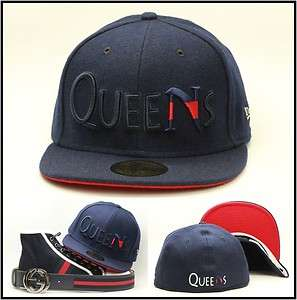 Queens Premium Custom Fitted Hat Matthew Valencia Navy / Red