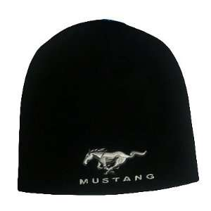 BEANIE KNIT HAT CAP FORD MUSTANG RACING NASCAR BLACK