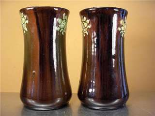 Pair Antique PETERS & REED VASES Pottery Arts & Crafts