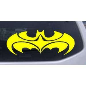 Tribal Batman Car Window Wall Laptop Decal Sticker    Yellow 16in X 6