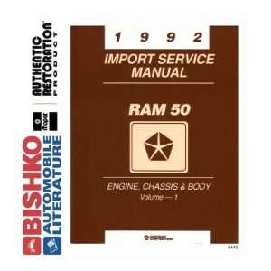 1992 DODGE RAM 50 TRUCK Shop Service Repair Manual CD