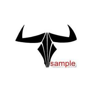 EVIL BULL COW SKULL WHITE VINYL DECAL STICKER Everything
