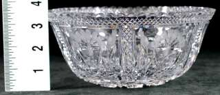 CLARK AMERICAN BRILLIANT PERIOD FLORAL CUT GLASS BOWL ABP