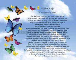 we create a loving pet memorial on this beautiful butterflies art