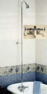 CHROME CLAWFOOT Tub SHOWER Diverter FAUCET BARCLAY NEW