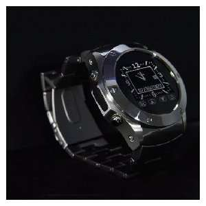 Watch Cell Phone Mobile Stainless Camera /4 Black