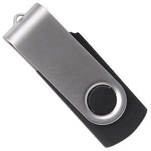 1GB USB 2.0 Portable Flash Drive (Black/Silver