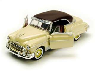 Chevy Bel Air Hard Top   124 Scale Diecast Model   Yellow   Motormax