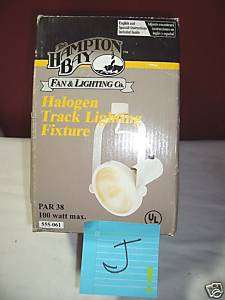 NIB HAMPTON BAY HALOGEN TRACK LIGHTING FIXTURE PAR 38