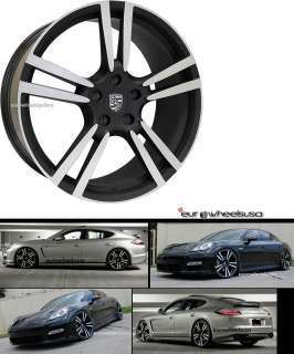 22 TURBO II WHEELS SET FOR PORSCHE PANAMERA 4 RIMS & CAPS 22X10