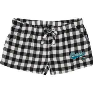 Jose Sharks Womens Black Paramount Flannel Shorts