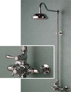 Antique style Exposed Wall Mount Thermostatic Shower