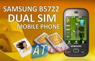 Samsung B5722 Duos Sim D.Brown 3.2MP Unlocked GSM Phone 8808993624065