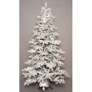 90 Blizzard Flocked Snowy Christmas Tree Prelit LED
