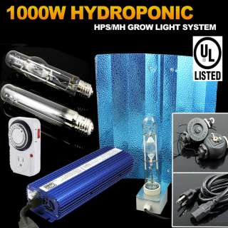 HPS MH Dimmable Digital Ballast Grow Light Kit System 1000W