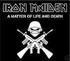 Iron Maiden Eddie Chrome car bumper sticker 3 x 5