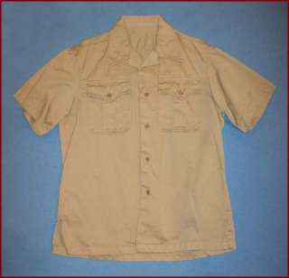OLD VTG 1965 EARLY VIETNAM WAR ERA KHAKI US ARMY SHORT SLEEVE MILITARY