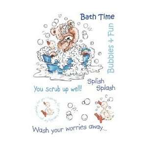 Rubber Stamp Set 4X6 Sheet   Bath Time Arts, Crafts & Sewing